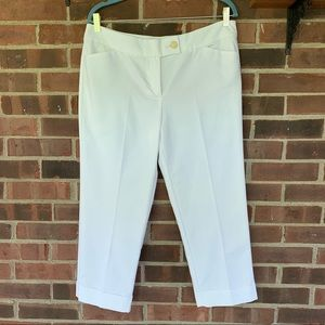 NWT Ann Taylor white Signature cropped pants